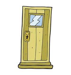 comic cartoon door vector image vector image