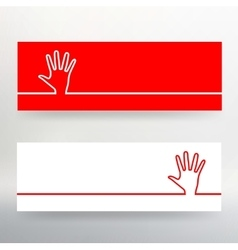 Creative concept Background of the human hand vector image