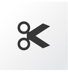 cut icon symbol premium quality isolated scissors vector image