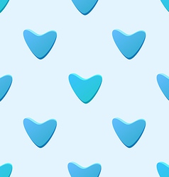 Cute blue seamless pattern tiling made of hearts vector