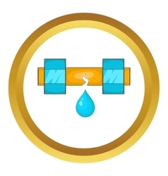 Dripping water pipe icon vector