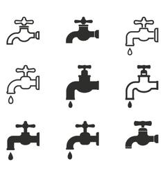 Faucet icon set vector image vector image