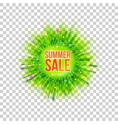 Flyer with sale and blur grass vector