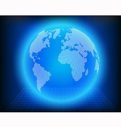 globe dot vector image