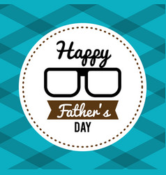 Happy father day card with glasses and ribbon vector