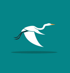 Heron or egret design ciconiiformes ardeidae vector