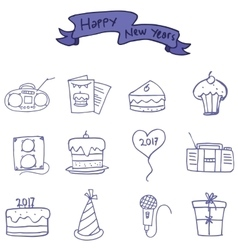 Icon of new years element vector