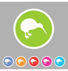 Kiwi bird icon flat web sign symbol logo label vector