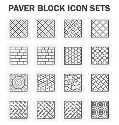 Paver block vector