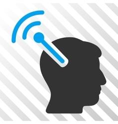 Radio neural interface icon vector