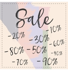 Sale stylish banner pastel brush stroke vector