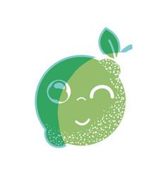 Silhouette kawaii nice funny lemon fruit vector