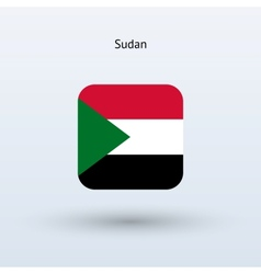 Sudan flag icon vector