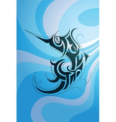 Swordfish tattoo vector