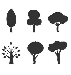 Tree icon on white background tree silhouette vector