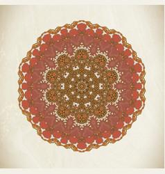 vintage mandala art vector image vector image