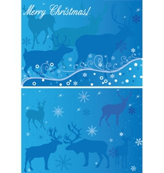 2 xmas backgrounds vector
