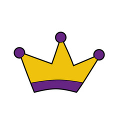 King crown drawing isolated icon vector