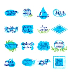1609i032011Sm003c13water labels vector image vector image