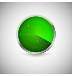 Radial screen of green color with targets vector