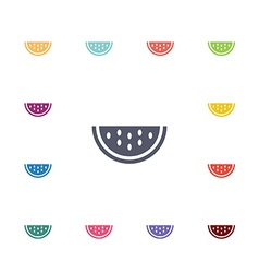 Watermelon flat icons set vector
