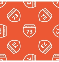 Orange interstate 73 pattern vector