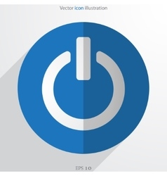 On off switch web flat icon vector
