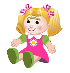 girl doll vector image