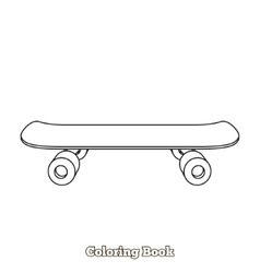 Skateboard cartoon coloring book vector