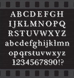Retro brown chocolate font vector