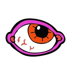 Comic cartoon spooky eye vector