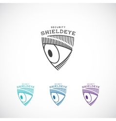 Shield eye security abstract sign symbol vector