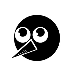 Flat icon in black and white style snowman vector