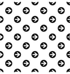 Arrow right circle button pattern simple style vector image vector image