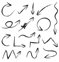 arrows hand drawn vector image vector image