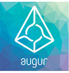 augur rep blockchain cripto currency logo vector image vector image