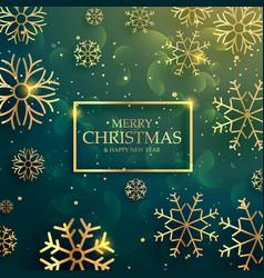 beautiful premium golden snowflakes background vector image vector image