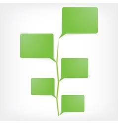 bubble speech tree icon vector image vector image