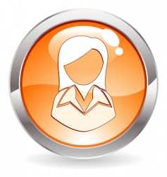 button with woman vector image vector image