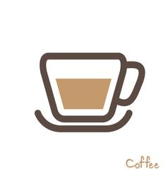 coffee symbol vector image vector image