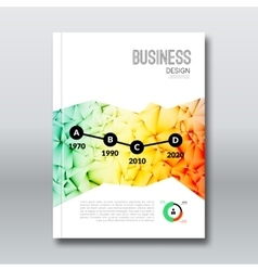 Colorful Business background triangle design vector image
