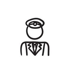 Conductor sketch icon vector