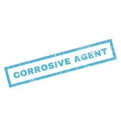 Corrosive agent rubber stamp vector