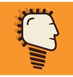 creative bulb face design vector image vector image