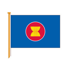 detailed reproduction of the official flag asean vector image vector image