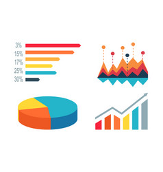 diagrams and graphics on white vector image vector image