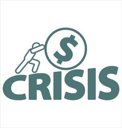 Economic crisis vector