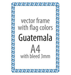 flag v12 guatemala vector image vector image