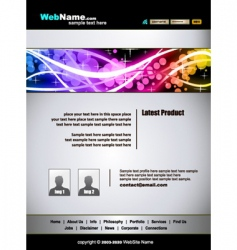 Futuristic web site template vector