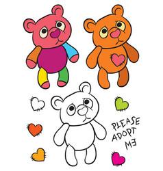 Happy teddy bear vector